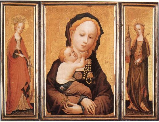 "The ""Madonna of the sweet pea blossom"", Wallraf-Richartz Museu, Cologne"