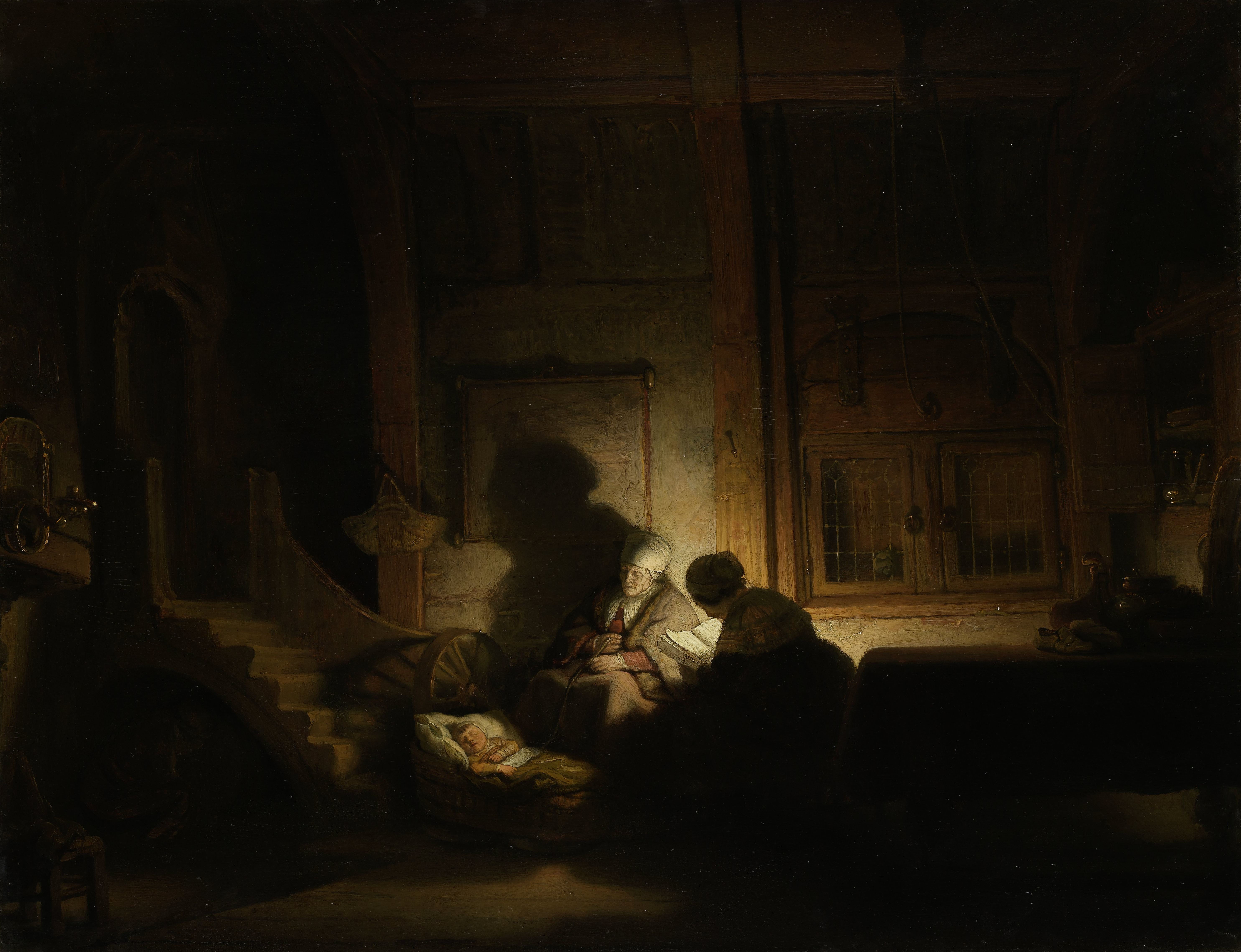 The holy family by night rembrandt 39 s room for The family room nightclub