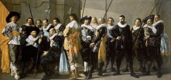 "Frans Hals and Pieter Codde, the ""Meagre Company"", date inscribed ""Ao 1637"", oil on canvas, 209x 429 cm, Rijksmuseum"