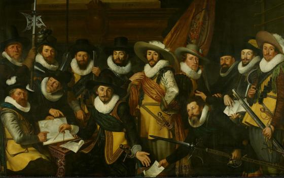 Werner Jacobsz van den Valckert, Civic Guards Company of Captain Albert Coenraetsz Burgh and Lieutenant Pieter Evertsz Hulft, 1625, oil on panel, 169.5x 270 cm, Amsterdam Museum