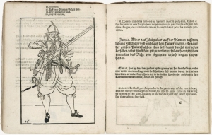 "A page from the ""Wapenhandelinghe"" by Jacob de Gheyn (II), published 1607"